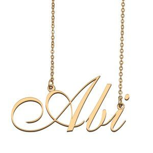Custom Personalized Abi Name Necklace